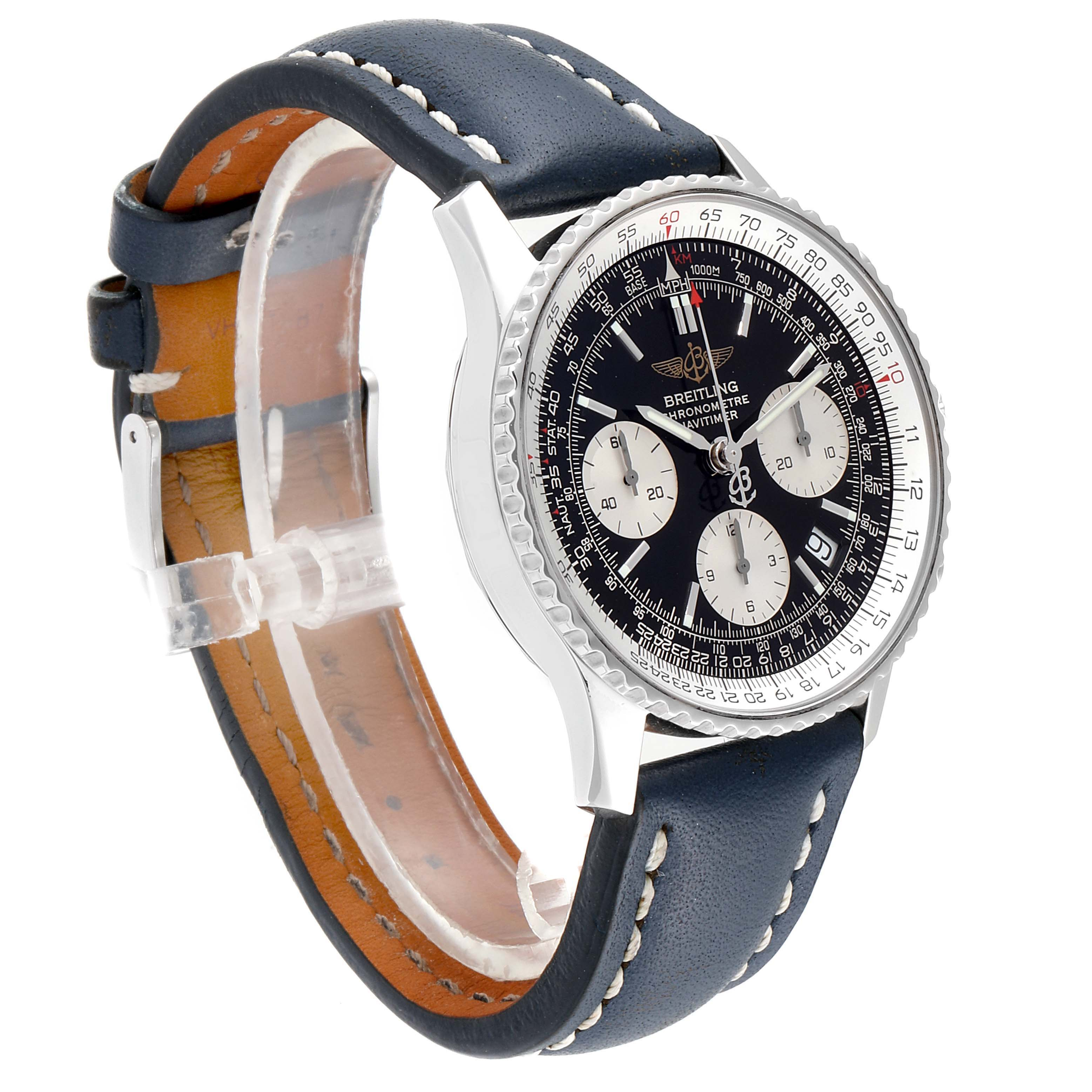Breitling Navitimer Black Dial Chronograph Mens Watch A23322 Box Papers SwissWatchExpo
