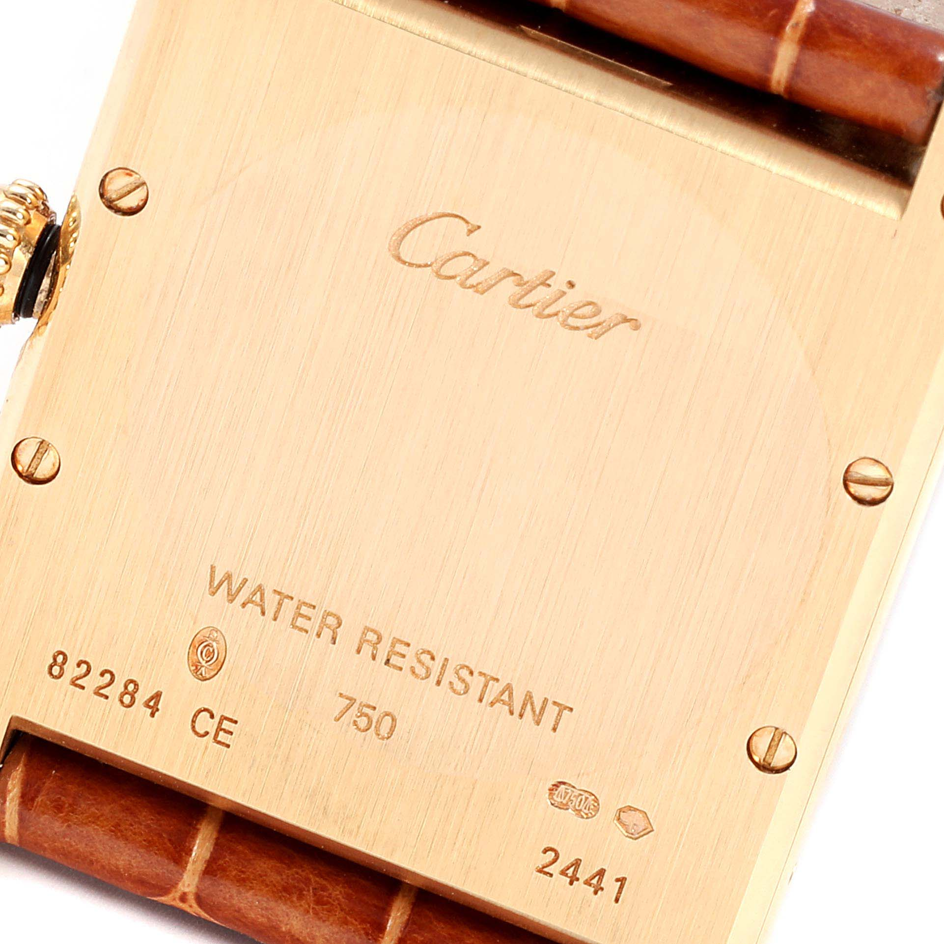 Cartier Tank Louis 18K Yellow Gold Mens Watch W1529756 Box Papers SwissWatchExpo