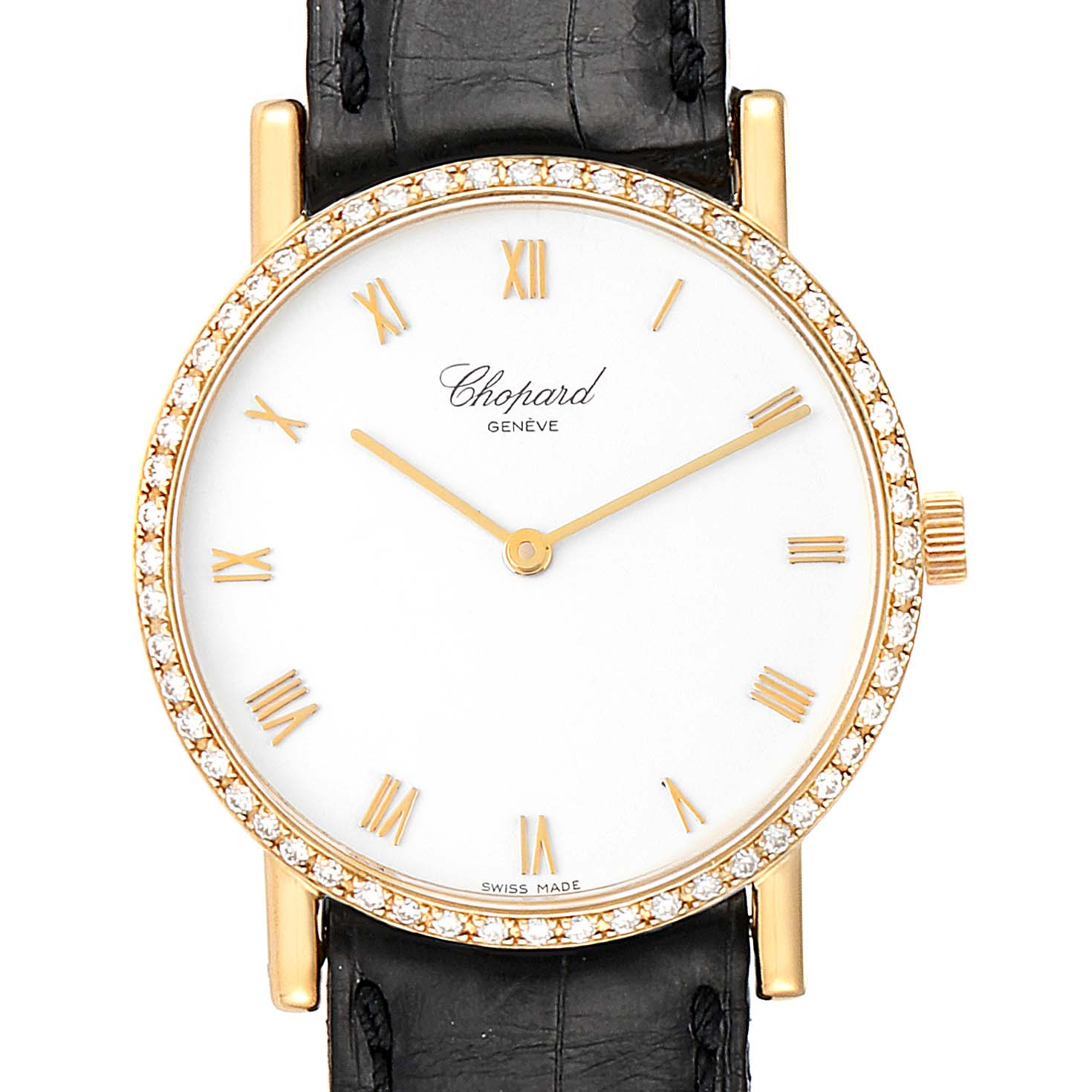 Chopard Classique Yellow Gold Diamond Mens Watch 3154 SwissWatchExpo