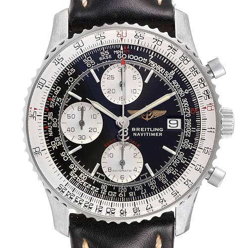 Photo of Breitling Navitimer Fighter Chronograph Steel Mens Watch A13330 Box Papers