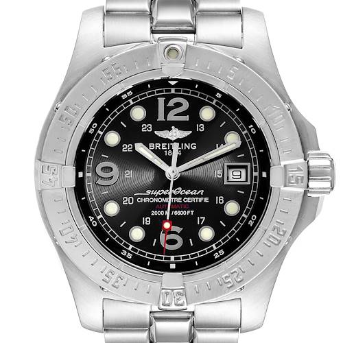 Photo of Breitling Superocean Steelfish Black Dial Mens Watch A17390 Box Papers