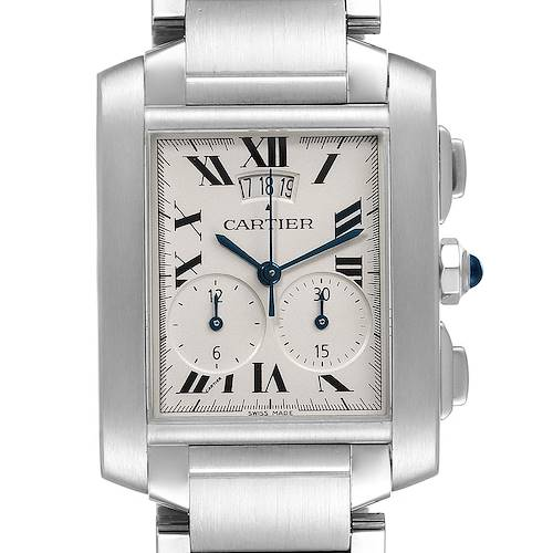 Photo of Cartier Tank Francaise Chrongraph Steel Mens Watch W51024Q3