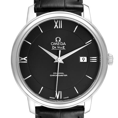 Photo of Omega DeVille Prestige Black Dial Steel Watch 424.13.40.20.01.001 Box Card