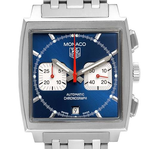 Photo of Tag Heuer Monaco Blue Dial Automatic Chronograph Mens Watch CW2113