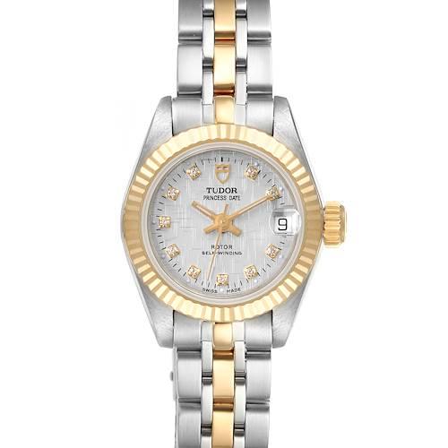 Photo of Tudor Princess Date Steel Yellow Gold Silver Diamond Dial Watch 92513