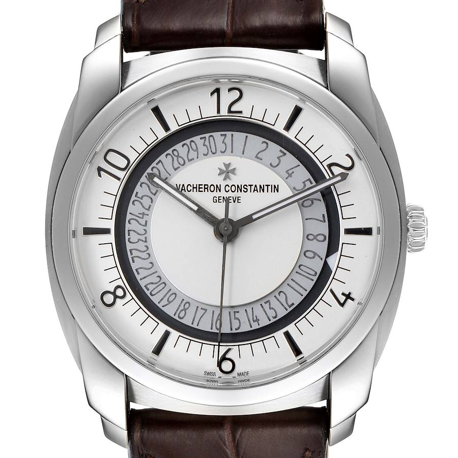Vacheron Constantin Quai De L'ile Date Steel Mens Watch 4500S Box Papers SwissWatchExpo