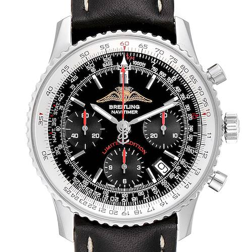 Photo of Breitling Navitimer Black Dial Chronograph Mens Watch A23322 Box Papers
