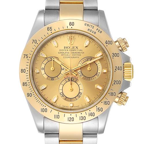 Photo of Rolex Daytona Steel 18K Yellow Gold Mens Watch 116523 Box Papers