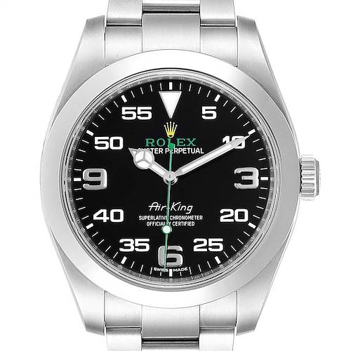 Photo of Rolex Oyster Perpetual Air King 40mm Green Hand Steel Mens Watch 116900 PARTIAL PAYMENT