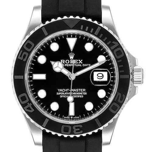 Photo of Rolex Yachtmaster 42 White Gold Rubber Strap Watch 226659 Unworn Partial Payment