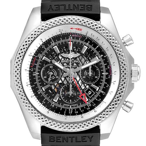 Photo of Breitling Bentley GMT Chronograph Black Dial Watch AB0431 Box Papers