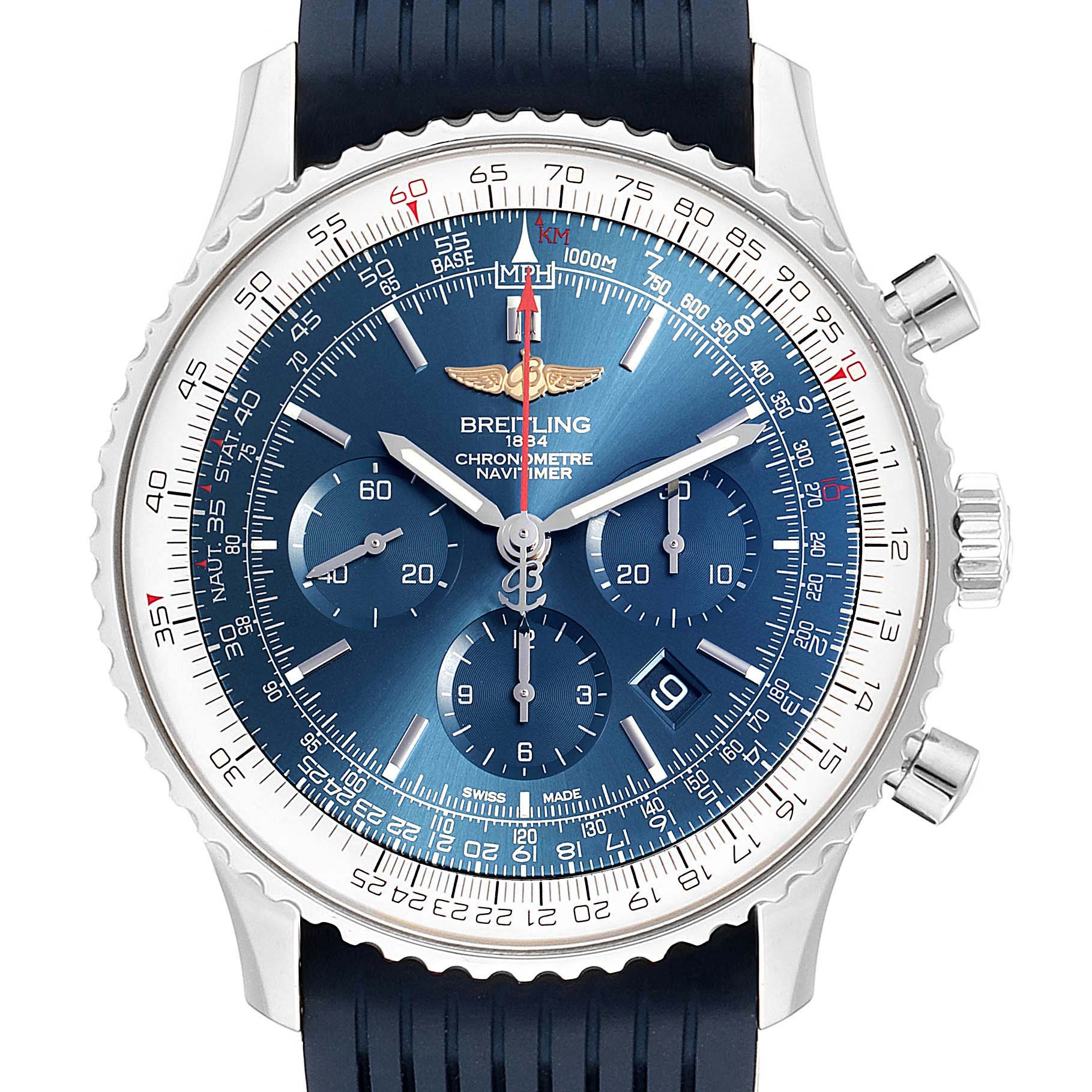 Breitling Navitimer 01 46 Blue Dial Exclusive Edition Watch AB0127 Box Card