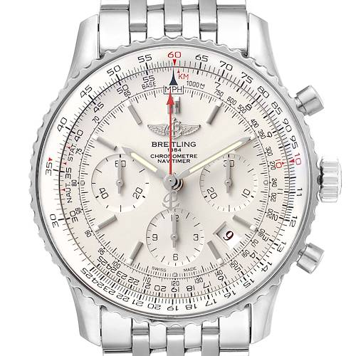Photo of Breitling Navitimer 01 Limited Edition Steel Mens Watch AB0123 Box Papers