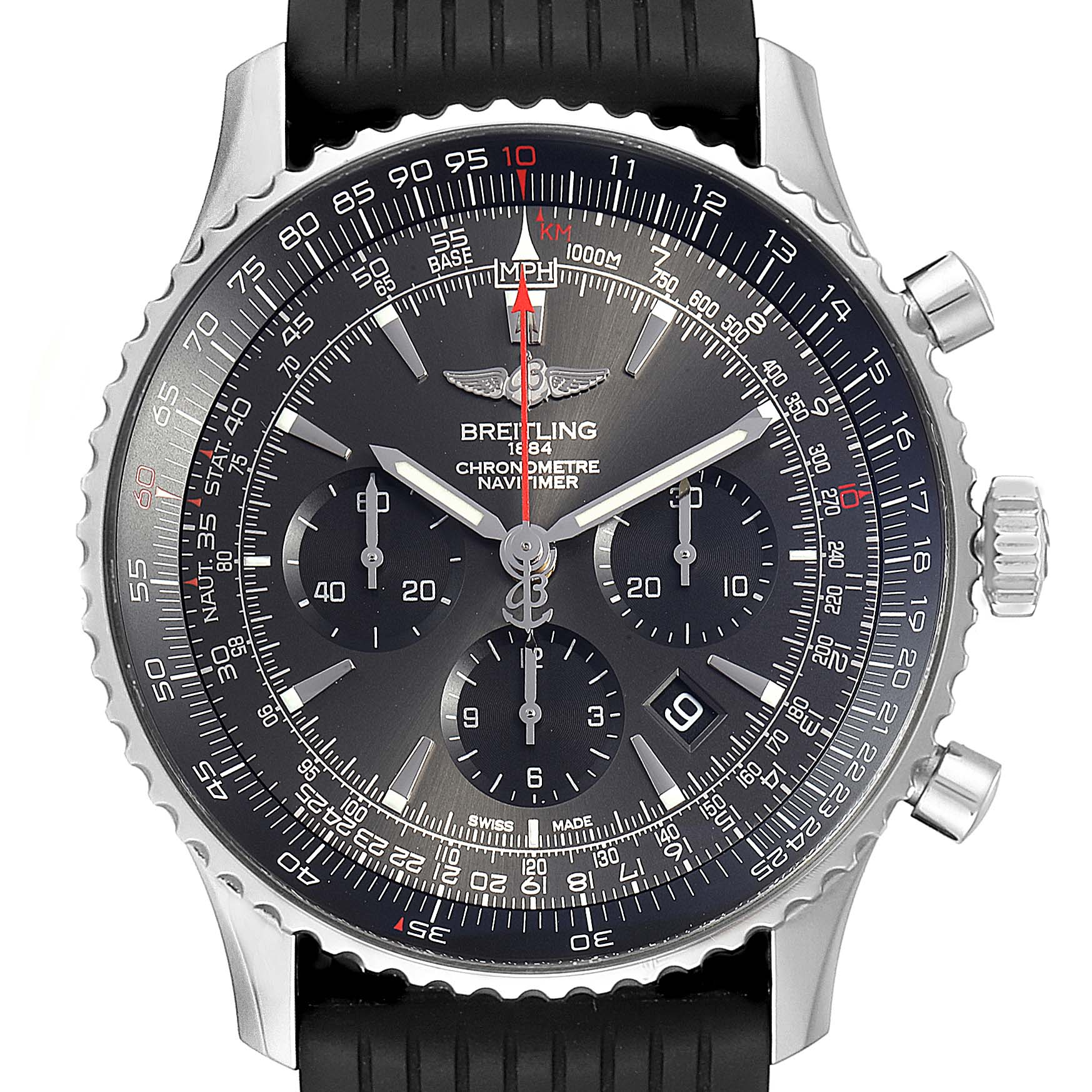 Breitling Navitimer 01 Stratos Gray Dial Limited Edition Watch AB0127 Box Card