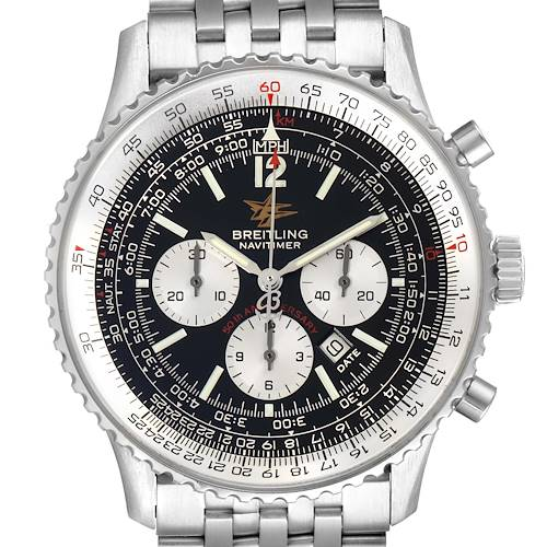Photo of Breitling Navitimer 50th Anniversary Black Dial Mens Watch A41322 Box Papers