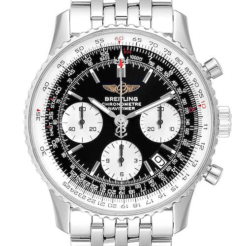Photo of Breitling Navitimer Black Dial Steel Mens Watch A23322 Box Papers