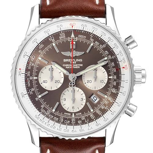 Photo of Breitling Navitimer Rattrapante Chronograph Mens Watch AB0310 Box Papers