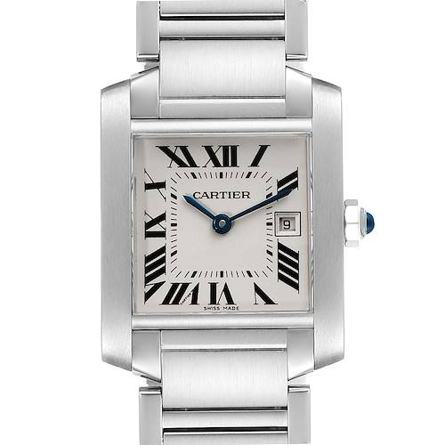 Photo of Cartier Tank Francaise Midsize 25mm Ladies Steel Watch W51011Q3 Box Papers