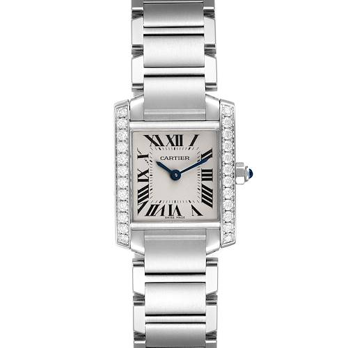 Photo of Cartier Tank Francaise Steel Diamond Ladies Watch W4TA0008 Box Papers