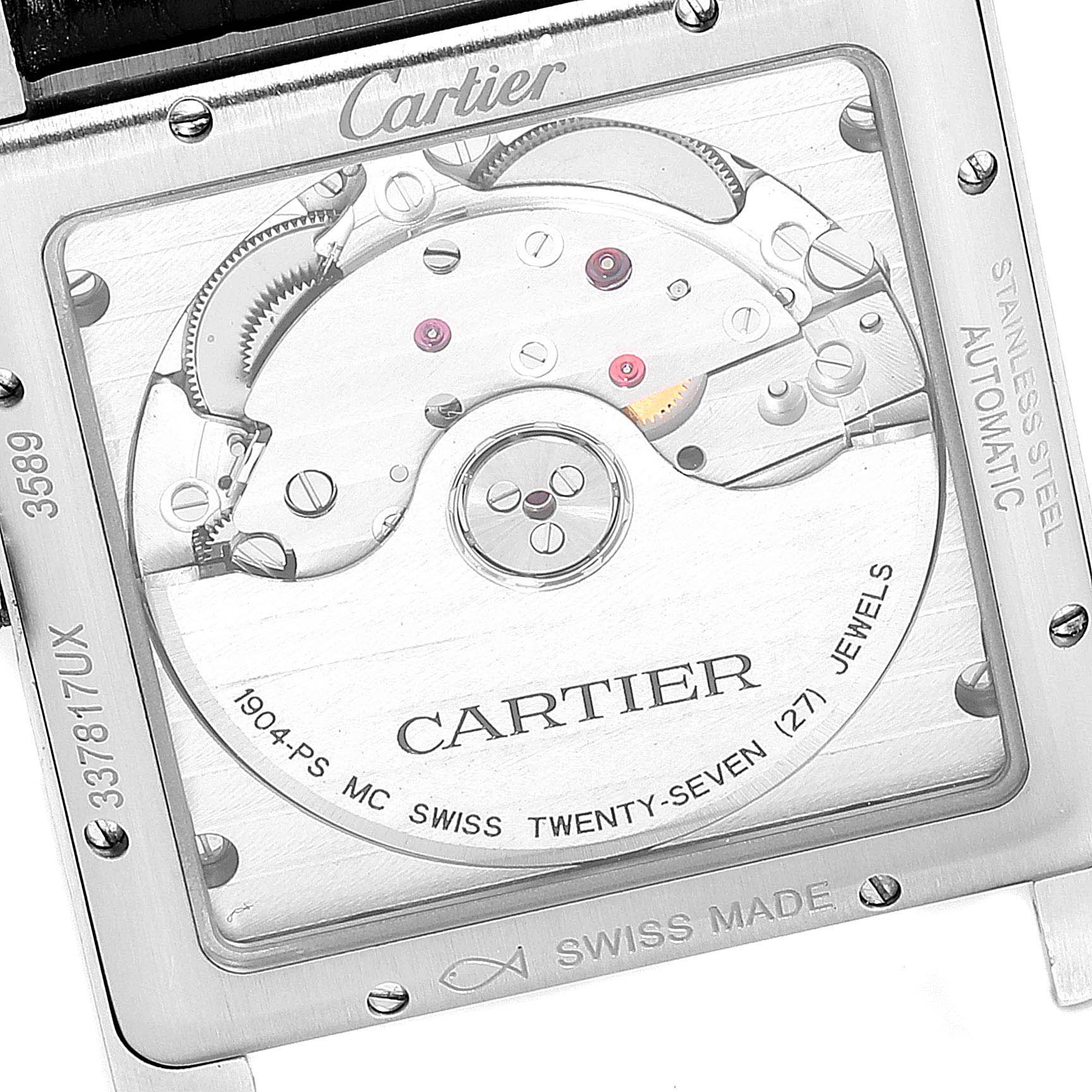 Cartier Tank MC Black Dial Automatic Mens Watch W5330004 Box Papers SwissWatchExpo