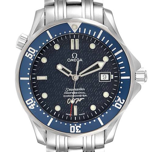 Photo of Omega Seamaster 40 Years James Bond Blue Dial Mens Watch 2537.80.00 Card