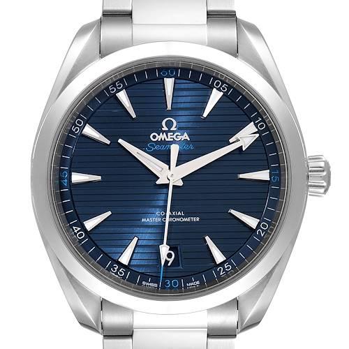 Photo of Omega Seamaster Aqua Terra Blue Dial Watch 220.10.41.21.03.001 Box Card