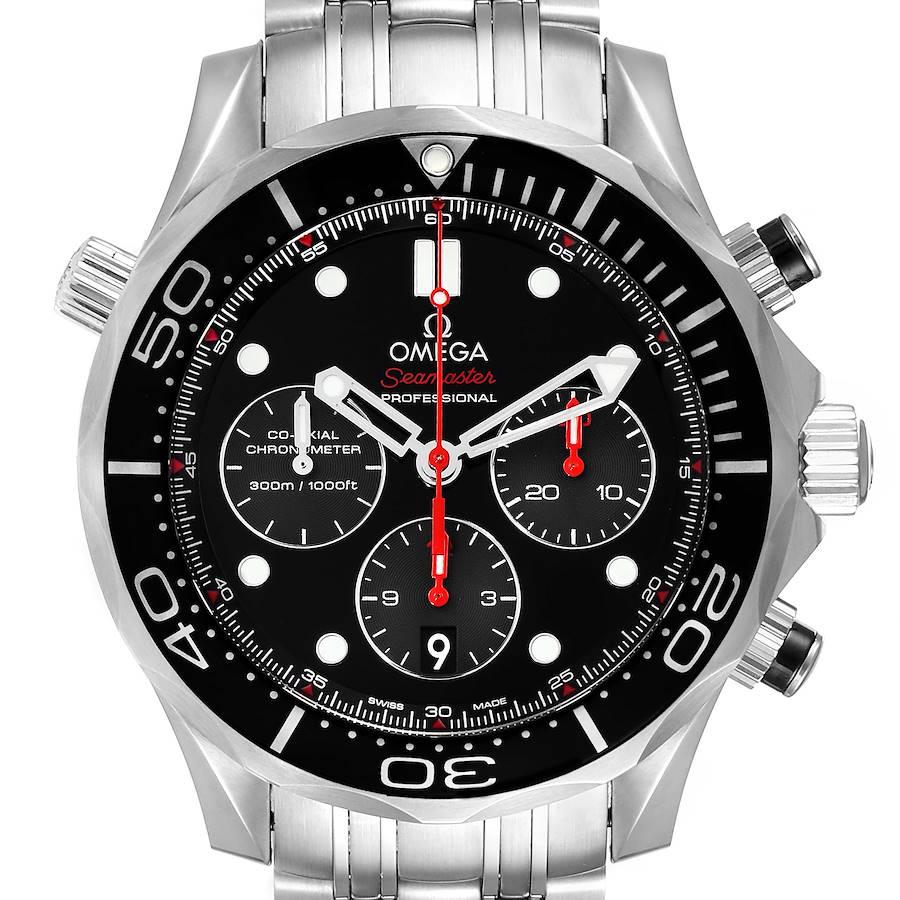 Omega Seamaster Chronograph Steel Mens Watch 212.30.44.50.01.001 Box Card SwissWatchExpo