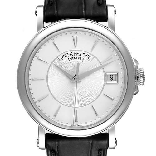 Photo of Patek Philippe Calatrava 18k White Gold Mens Watch 5153G Box Papers