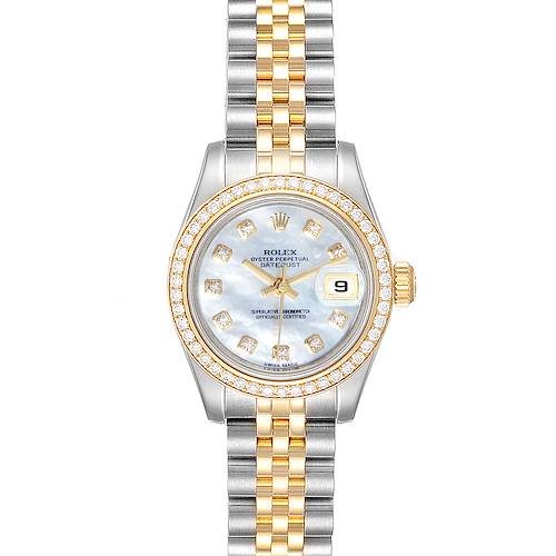 Photo of Rolex Datejust 26 Steel Yellow Gold MOP Diamond Ladies Watch 179383