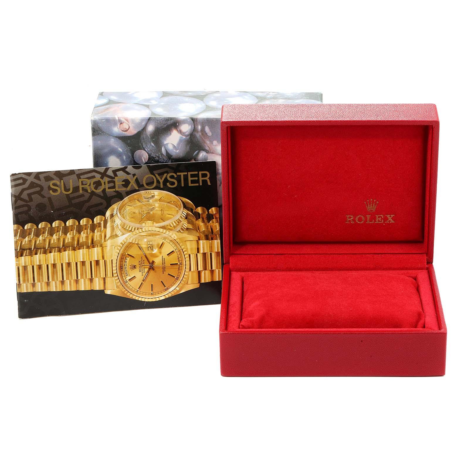 Rolex Datejust Decorated MOP Dial Steel Yellow Gold Ladies Watch 79173 SwissWatchExpo