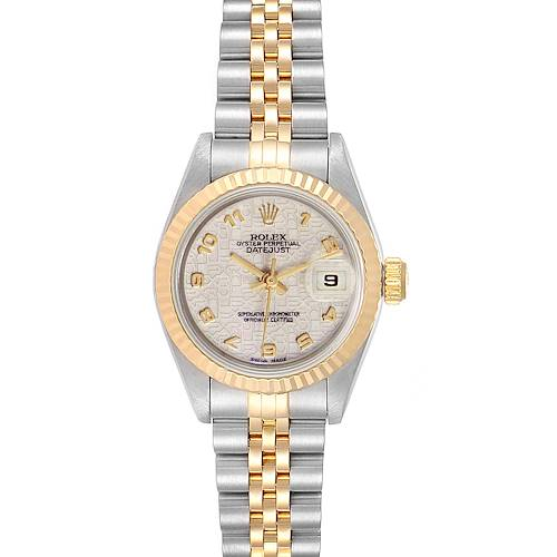 Photo of Rolex Datejust Steel Yellow Gold Anniversary Dial Ladies Watch 69173 Box Papers
