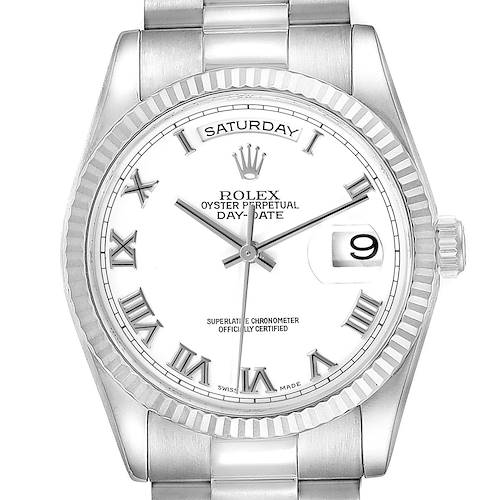 Photo of Rolex Day Date 36mm President White Gold White Dial Mens Watch 118239