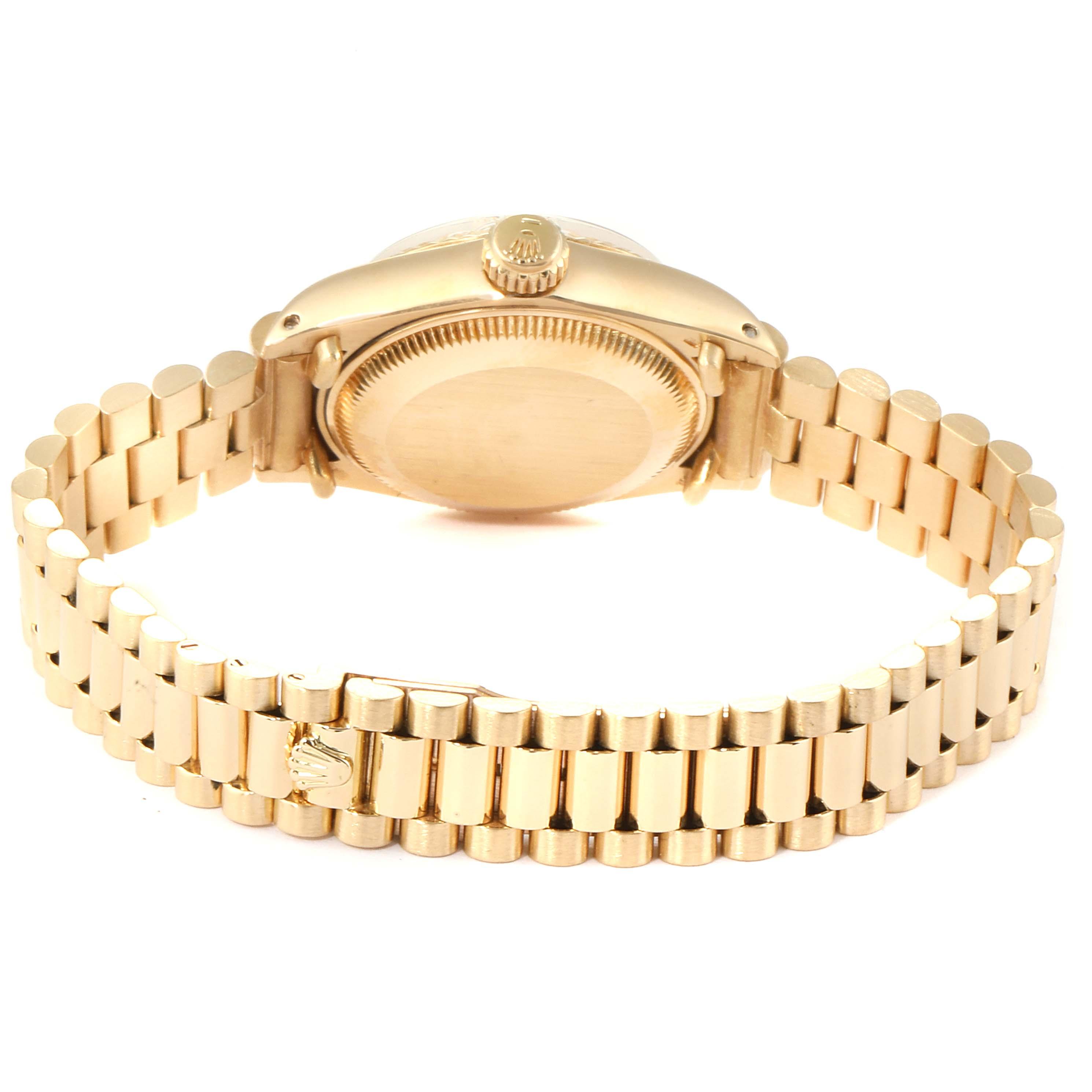 Rolex President Datejust 18K Yellow Gold 26mm Ladies Watch 69178 SwissWatchExpo