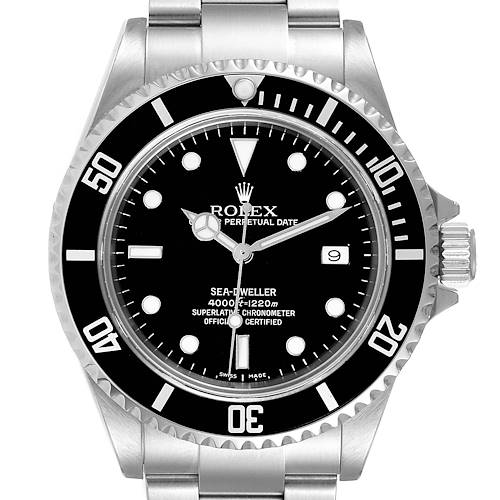 Photo of Rolex Seadweller Black Dial Automatic Steel Mens Watch 16600 Box Card