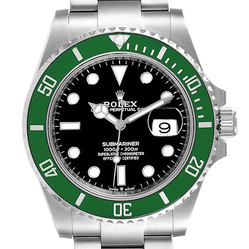 Photo of Rolex Submariner Green Kermit Cerachrom Mens Watch 126610LV Box Card