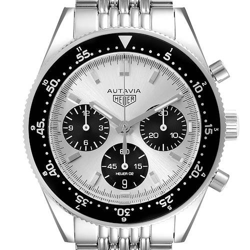 Photo of Tag Heuer Autavia Heritage Silver Dial Steel Mens Watch CBE2111 Box Card