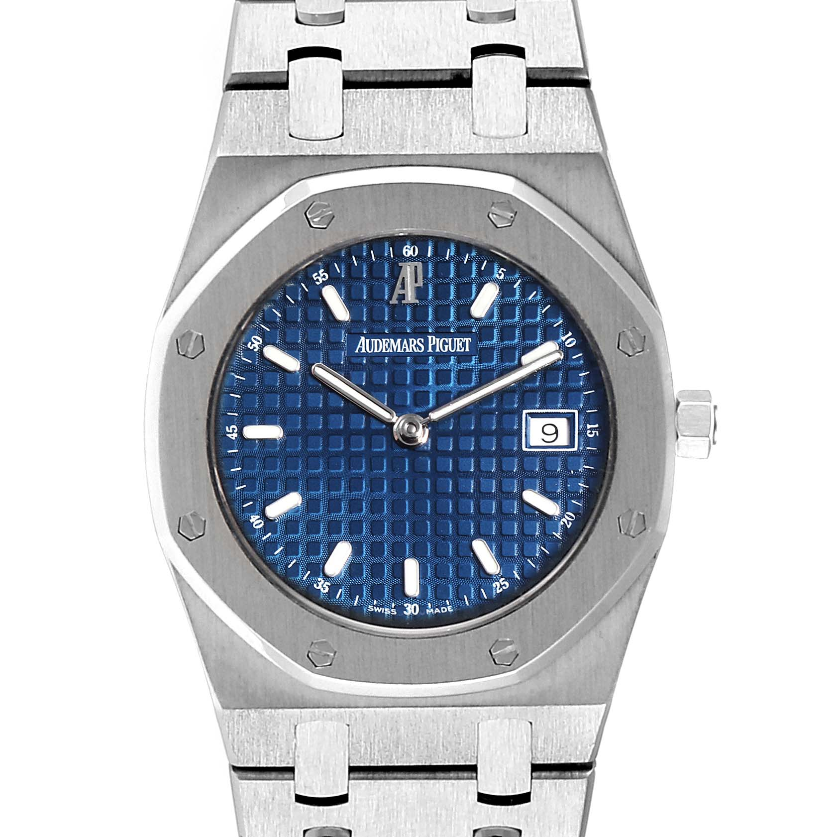 Audemars Piguet Royal Oak 34mm Blue Dial Steel Mens Watch 57175ST SwissWatchExpo