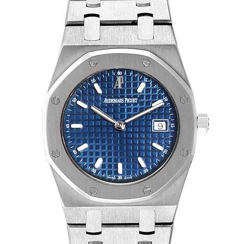 Photo of Audemars Piguet Royal Oak 34mm Blue Dial Steel Ladies Watch 57175ST