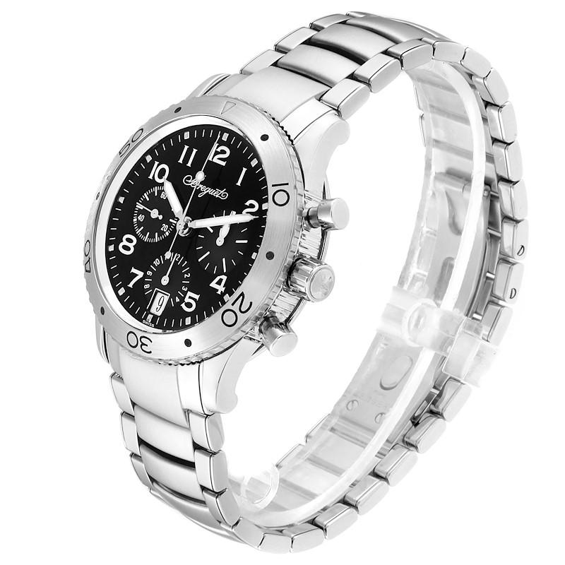 Breguet Transatlantique Type XX Flyback Black Dial Steel Watch 3820ST SwissWatchExpo
