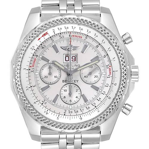 Photo of Breitling Bentley Motors Silver Dial Chronograph Watch A44362 Box Papers