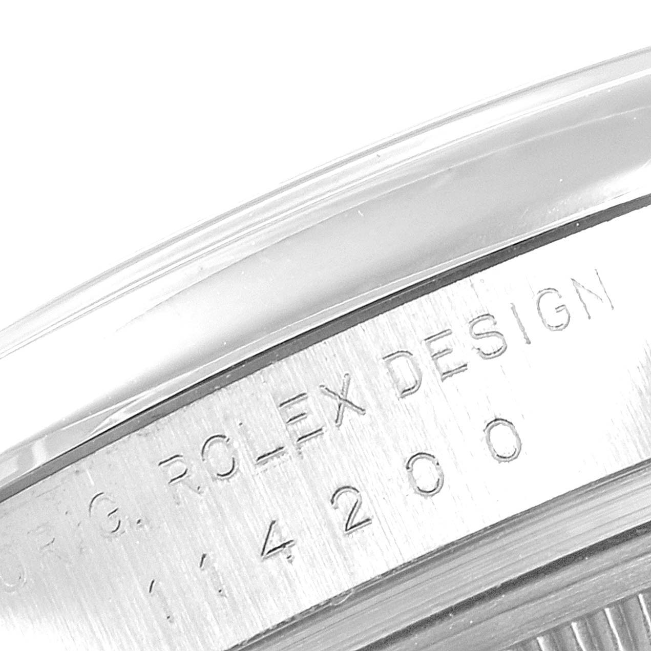 Rolex Air King 34 Silver Dial Smooth Bezel Mens Watch 114200 Box Card SwissWatchExpo