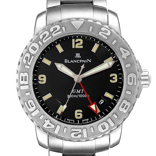 Photo of Blancpain Fifty Fathoms Trilogy GMT Steel Mens Watch 2250 Box Papers