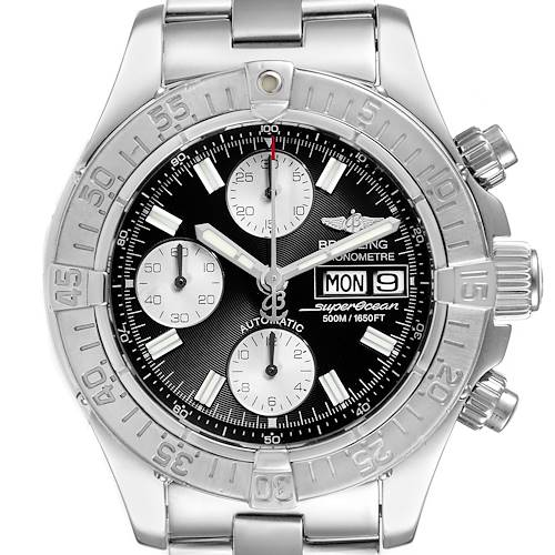 Photo of Breitling Aeromarine Superocean Black Dial Mens Watch A13340 Box Papers