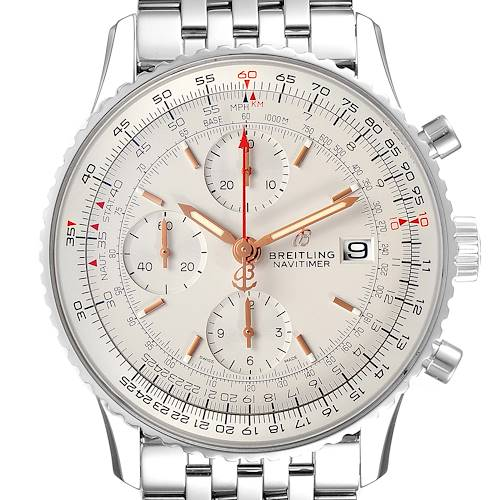 Photo of Breitling Navitimer Heritage Silver Dial Steel Mens Watch A13324 Box Papers