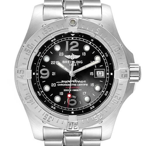 Photo of Breitling Superocean Steelfish Black Dial Steel Mens Watch A17390