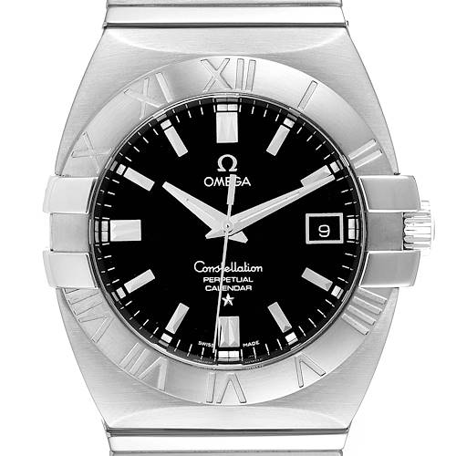 Photo of Omega Constellation Double Eagle Black Dial Steel Mens Watch 1513.51.00