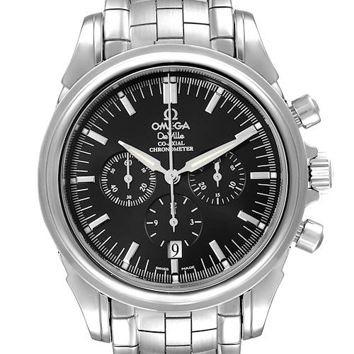 Photo of Omega DeVille Co-Axial Chronograph Steel Mens Watch 4541.50.00 Box Card