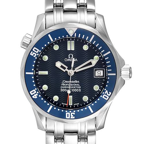 Photo of Omega Seamaster Bond 36 Midsize Blue Dial Steel Mens Watch 2551.80.00