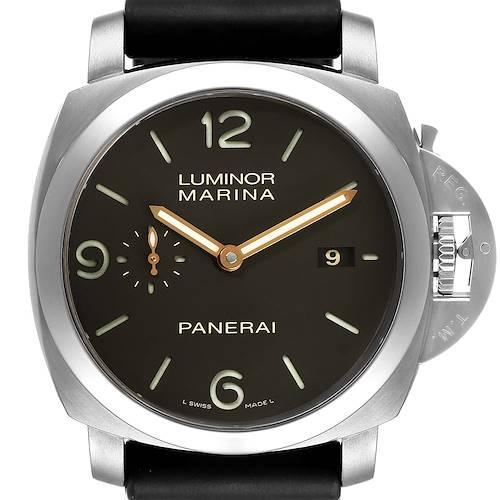 Photo of Panerai Luminor Marina 1950 3 Days Titanium 44mm Watch PAM00351 Box Papers