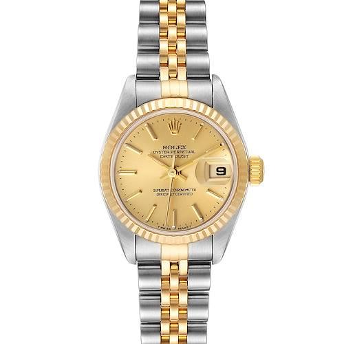 Photo of Rolex Datejust Steel Yellow Gold Jubilee Bracelet Ladies Watch 79173